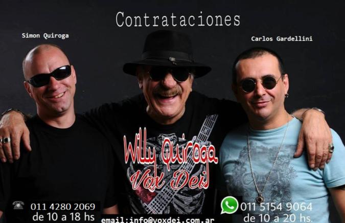 Contrataciones Willy Quiroga*Vox Dei: + *54 9 11 5154-9064